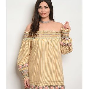 💜HP💜 Off Shoulder Striped Dress